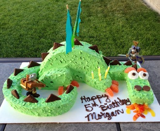 Dragon Birthday Cake Tutorial