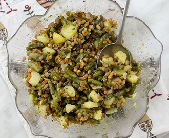 Farro Fagiolini Patate e Pesto fatto in casa