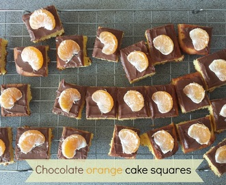 Recipe - Chocolate orange cake squares (#SlimmingWorld friendly)