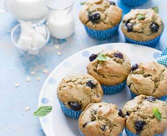 Avocado Blueberry Oatflour Muffins