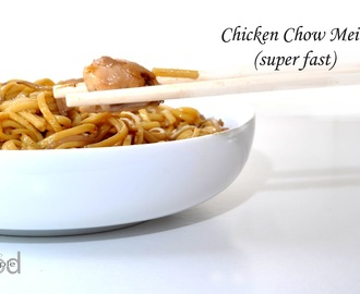 Chicken Chow Mein (super fast)