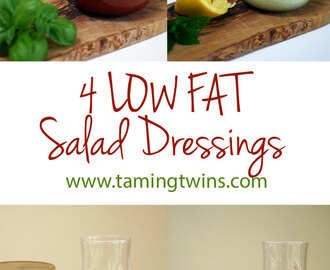 4 Low Fat Salad Dressings