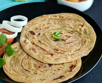 Lachha Paratha / Whole Wheat Lachha Paratha / Mulit Layered Paratha - Its Easy & Vegan too!!