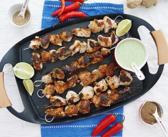 Cardamom Chicken Skewers.