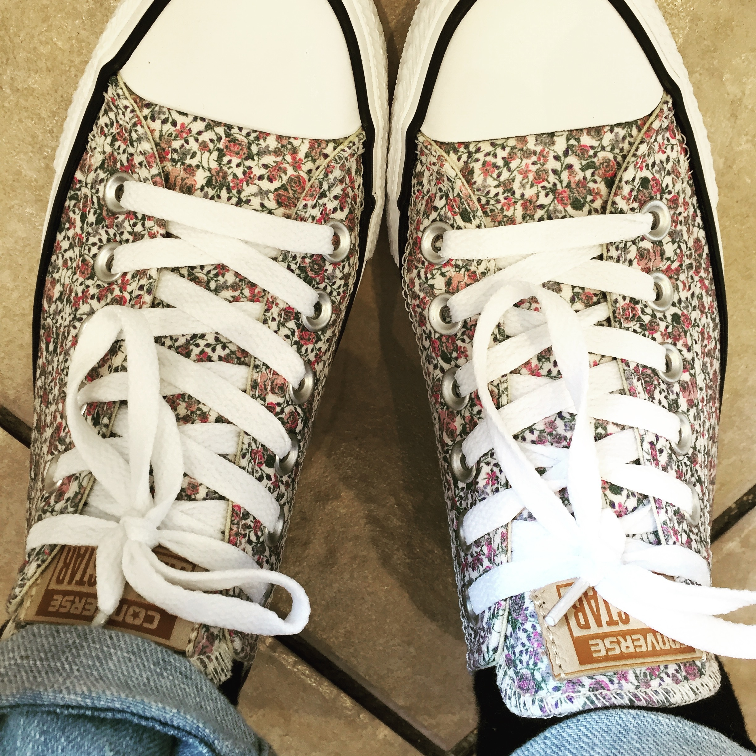My sale treat: Tiny Rose Converse Trainers from Office