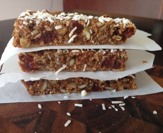 Healthy Gluten/Dairy/Sugar-Free Chewy Granola Bar Recipe