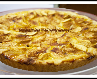 Crostata alle mele con pasta frolla vegan velocissima, senza uova ne' burro! - Apple tart with vegan and very quick shortcrust, with no eggs and no butter!
