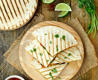 Vegan Quesadillas with Chipotle and White Beans