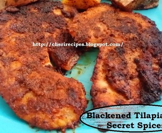 Blackened Tilapia with Secret Spices