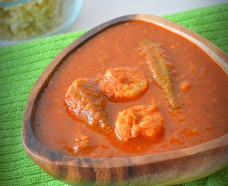 Goan Shrimp and Okra curry/ Sungta Bhende Kodi
