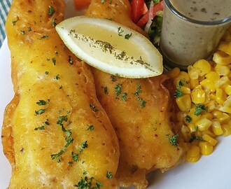 Traditional South African Battered Fish