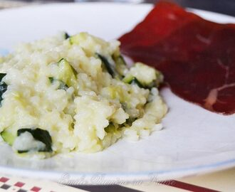 Risotto aux courgettes au Cooking chef