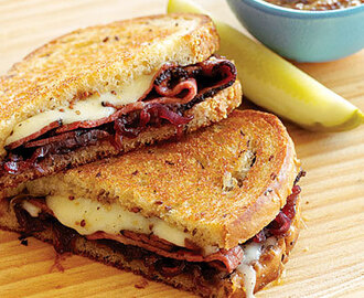 My Favorite Things: Grilled Pastrami, Swiss, and Sweet Onion Marmalade...