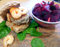 Sweet Chilli Prawn Topped Chinese Pork Burgers