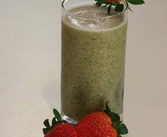 Receita de Vitamina de Morangos - Strawberry Smoothie Recipe