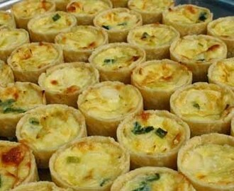 Mini Quiche de Queijo