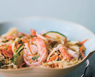 Asian Cabbage Salad with Shrimp