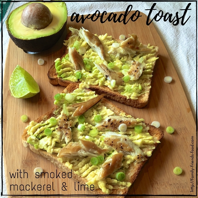 Avocado toast with smoked mackerel & lime