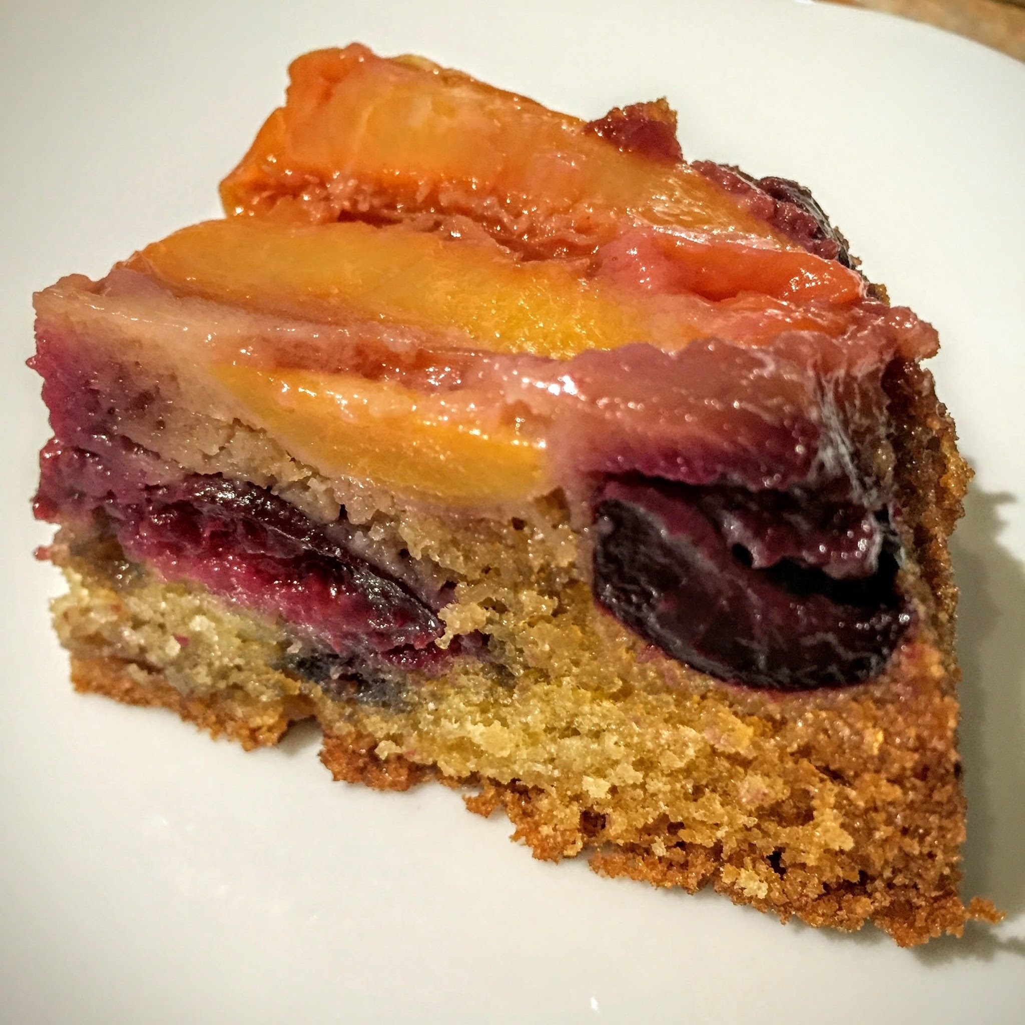 Nectarine & Cherry Upside Down Cake