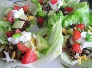 Mexican Lettuce Wraps (Low Carb, clean eating, paleo, low fat, healthy)