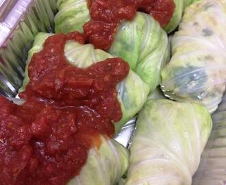 Cabbage Rolls with Ground Chicken