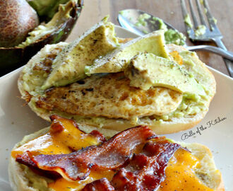Bacon, Egg, and Avocado Breakfast Sandwich