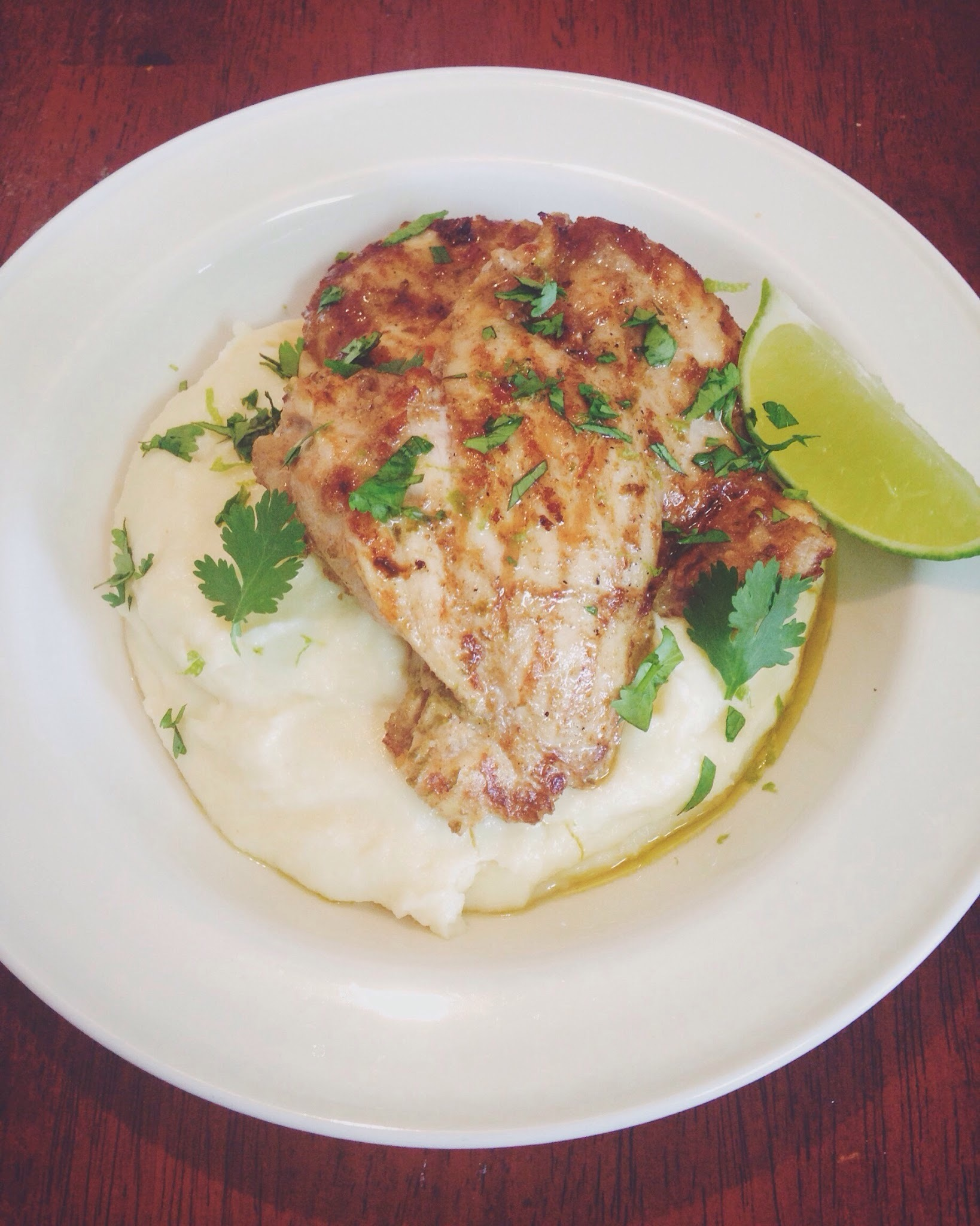 Grilled Lime and Coriander Chicken Thighs