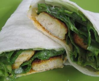 Cajun Chicken Caesar Salad Wrap
