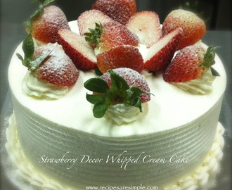 Strawberry and Whipped Cream Sponge Cake