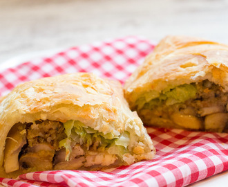 Vegan Haggis, Mushroom and Cabbage Pasties