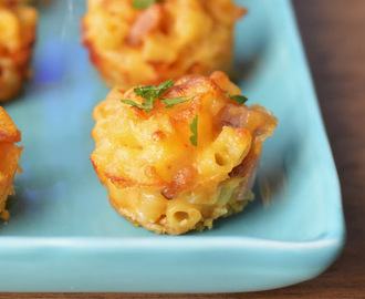 Ham and Cheese Mac and Cheese Bites