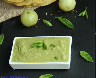 Mint and Indian gooseberry (Amla) dip/spread