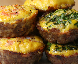 These Sausage And Egg Breakfast Cups Are Great For Low-Carb Breakfast Meal Prep