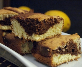 My Grandma's Soft Lemon Chocolate Marble Cake