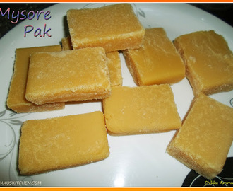 Mysore Pak Recipe / Diwali Sweets Recipe