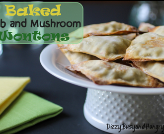 Baked Crab and Mushroom Wontons Guest Post