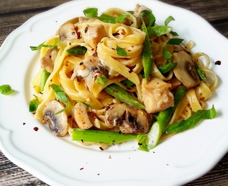 Creamy Rosemary Chicken Linguine