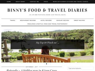 Binny's Kitchen & Travel diaries