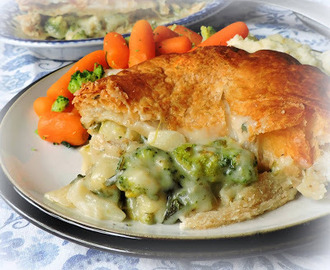 Broccoli, Cauliflower Cheese & Spinach Pie