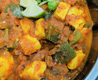 Paneer Mirch Masala / Cottage Cheese Capsicum Curry