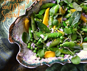 Sweet Pea, Mango and Mint Salad