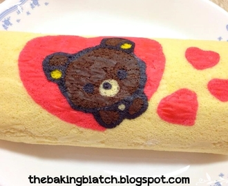 Image: The Baking Biatch || by Cynthia Lim: Rilakuma Swiss Roll [Peach ...