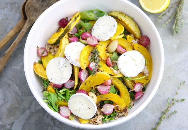 Spelt Salad with Squash & Goat's Cheese