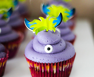 Halloween Sweet Table: Monster-Cupcakes