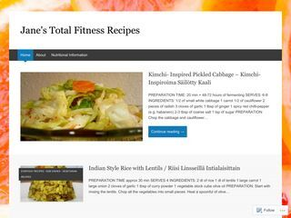 Jane's Total Fitness Recipes