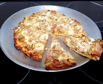"PIZZA FITNESS CON BASE DE POLLO ""BAJA EN CARBOS"""