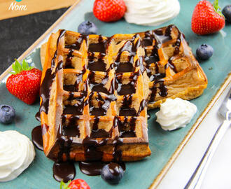 Low Syn Chocolate and Coconut Waffles | Slimming World