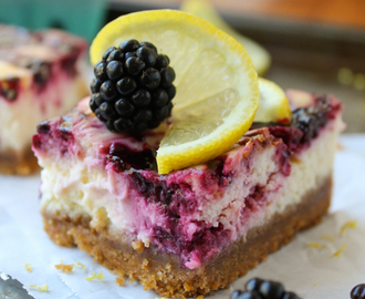 Blackberry Lemon Cheesecake Bars