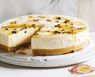 Raw Recipes - Raw Cheesecake Recipe - Passionfruit Swirl and White Chocolate