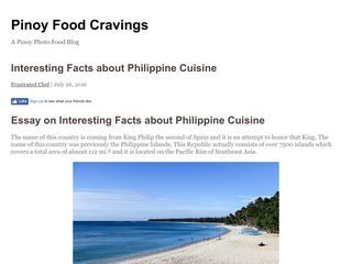 Pinoy Food Cravings